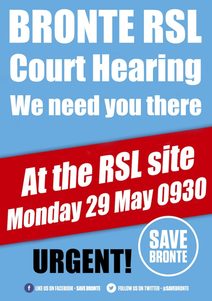 Save Bronte court hearing 2017 we need you there black urgent 1000